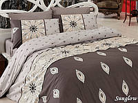 Двуспальный евро комплект постельного белья First Choice Sunglow, ранфорс, Турция, фото 1