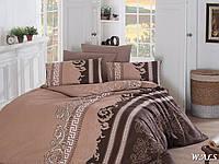 Двуспальный евро комплект постельного белья First Choice Wals, ранфорс, Турция, фото 1
