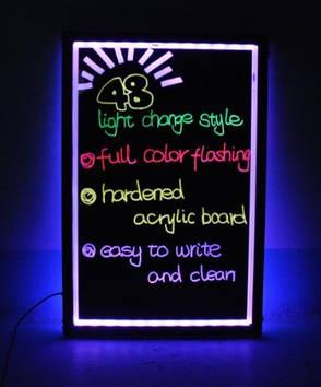 Світлодіодна вивіска світиться / Led дошка для реклами 60х80