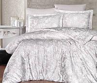 Двуспальный евро комплект постельного белья First Choice, Advina shampanya, сатин, Турция