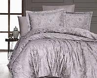 Двуспальный евро комплект постельного белья First Choice, Advina Vizon, сатин жаккард, Турция