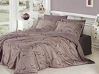 Двуспальный евро комплект постельного белья First Choice, Calisto Vizon, сатин, Турция