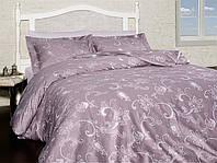 Двуспальный евро комплект постельного белья First Choice, Carmina Leylak, сатин, Турция