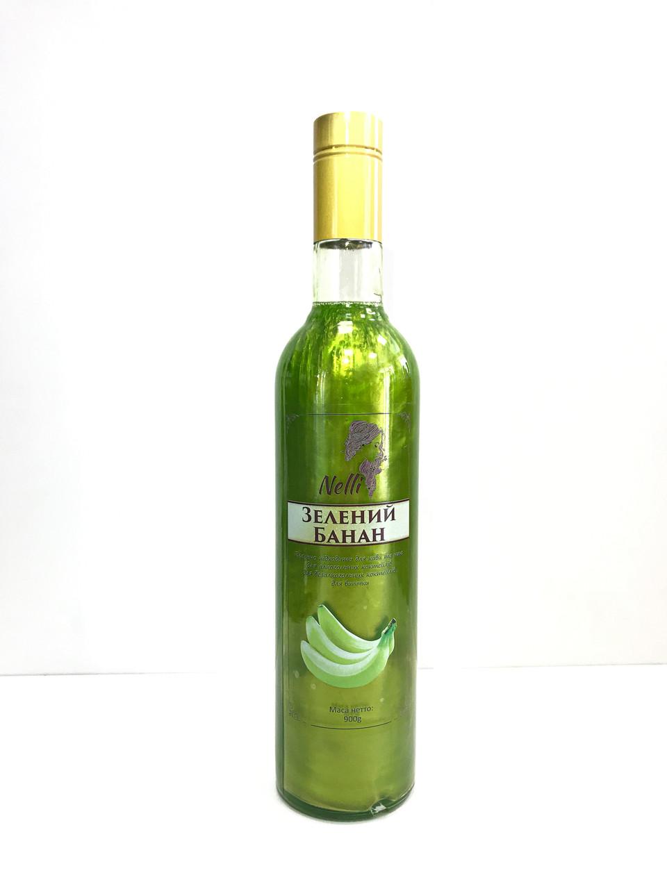 "Сироп з глиттером ""Зеленый банан"""
