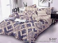 Двуспальный комплект постельного белья, сатин-люкс, S337, Украина, фото 1