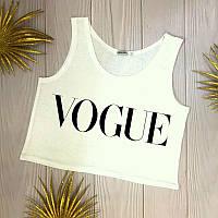 Топ летний женский с принтом Vogue