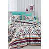 Евро комплект постельного белья Eponj Home - Casy Beyaz,  ранфорс, Турция
