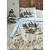 Евро комплект постельного белья Eponj Home -Kuleonu Bej,  ранфорс, Турция