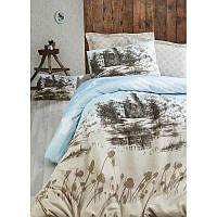Евро комплект постельного белья Eponj Home -Kuleonu Bej,  ранфорс, Турция, фото 1