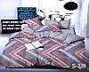 Полуторный комплект постельного белья с компаньоном, сатин-люкс, S339, Украина