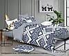 Полуторный комплект постельного белья с компаньоном, сатин-люкс, S336, Украина