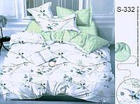 Полуторный комплект постельного белья с компаньоном, сатин-люкс, S332, Украина, фото 1