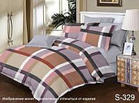 Полуторный комплект постельного белья с компаньоном, сатин-люкс, S329, Украина, фото 1