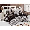 Евро комплект постельного белья Eponj Home - Cheta Kahve,  ранфорс, Турция