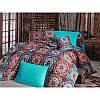 Евро комплект постельного белья Eponj Home -Ashley Turkuaz,  ранфорс, Турция