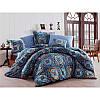 Евро комплект постельного белья Eponj Home Ashley Royal,  ранфорс, Турция