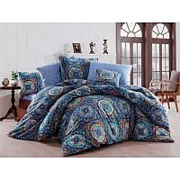 Евро комплект постельного белья Eponj Home Ashley Royal,  ранфорс, Турция, фото 1