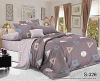 Полуторный комплект постельного белья с компаньоном, сатин-люкс, S326, Украина, фото 1