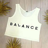 Топ летний женский с принтом Balance