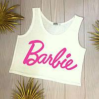 Топ літній жіночий з принтом Barbie