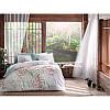 Двуспальный евро комплект постельного белья Tac Benicia yesil v01, сатин, Турция