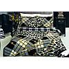 Двуспальный евро комплект постельного белья Tac Sava черное, сатин, Турция