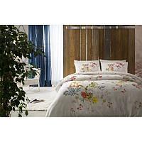 Двуспальный евро комплект постельного белья Tac Corey красное, сатин, Турция, фото 1