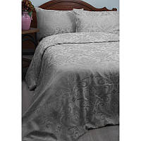 Двуспальный евро комплект постельного белья Deco Bianca, Gri,жаккардовый сатин,2 наволочки, Турция, фото 1