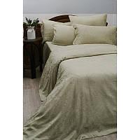 Двуспальный евро комплект постельного белья Deco Bianca, кофе, жаккардовый сатин,4 наволочки, Турция