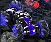 Трюковая машинка-багги перевертыш вездеход Синий (пульт+браслет на палец), фото 2