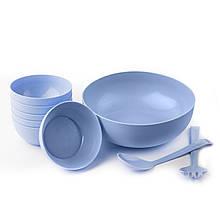 Набор салатников Sagad 22см 12 см Голубой SA. 25 BLUE, КОД: 1705554