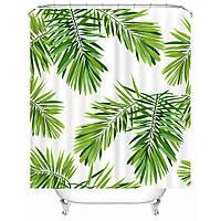 Штора для ванной Пальмовые листья 180 х 180 см Berni, фото 1