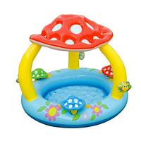 Детский надувной бассейн Грибок с надувным дном Intex 57407 (102 х 89 см)