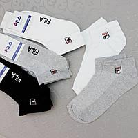 Носки укороченные под кроссовки,СЕТКА, 41-45 размер. Короткие носки спортивного стиля. FILA