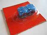 """Колпачок ниппеля """"КУБИК"""" синий,колпачки на ниппель,золотники на ниппель,Колпачки на ниппеля Кости blue,цена2шт, фото 2"""