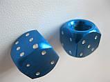 """Колпачок ниппеля """"КУБИК"""" синий,колпачки на ниппель,золотники на ниппель,Колпачки на ниппеля Кости blue,цена2шт, фото 4"""