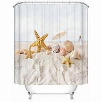 Штора для ванной Песчаный пляж 180 х 180 см  Berni, фото 1