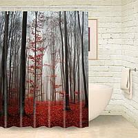 Штора для ванной Осенний лес 180 х 180 см  Berni, фото 1