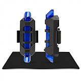 Стоп сигнал на велосипед USB фара задняя Синий, фото 3