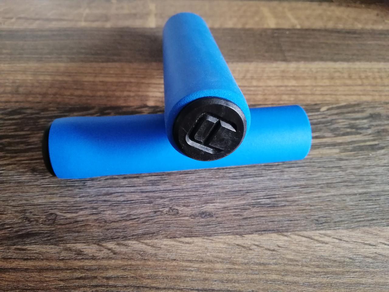 Грипсы пенные Aoperate,ручки для велосипеда на руль, рукоятки для руля велосипеда,велоручки СИНИЕ,гріпси