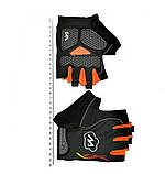 Перчатки велосипедные MySpace L гель,велосипедные перчатки без пальцев с гелевыми вставками под ладонь,гель,L, фото 2