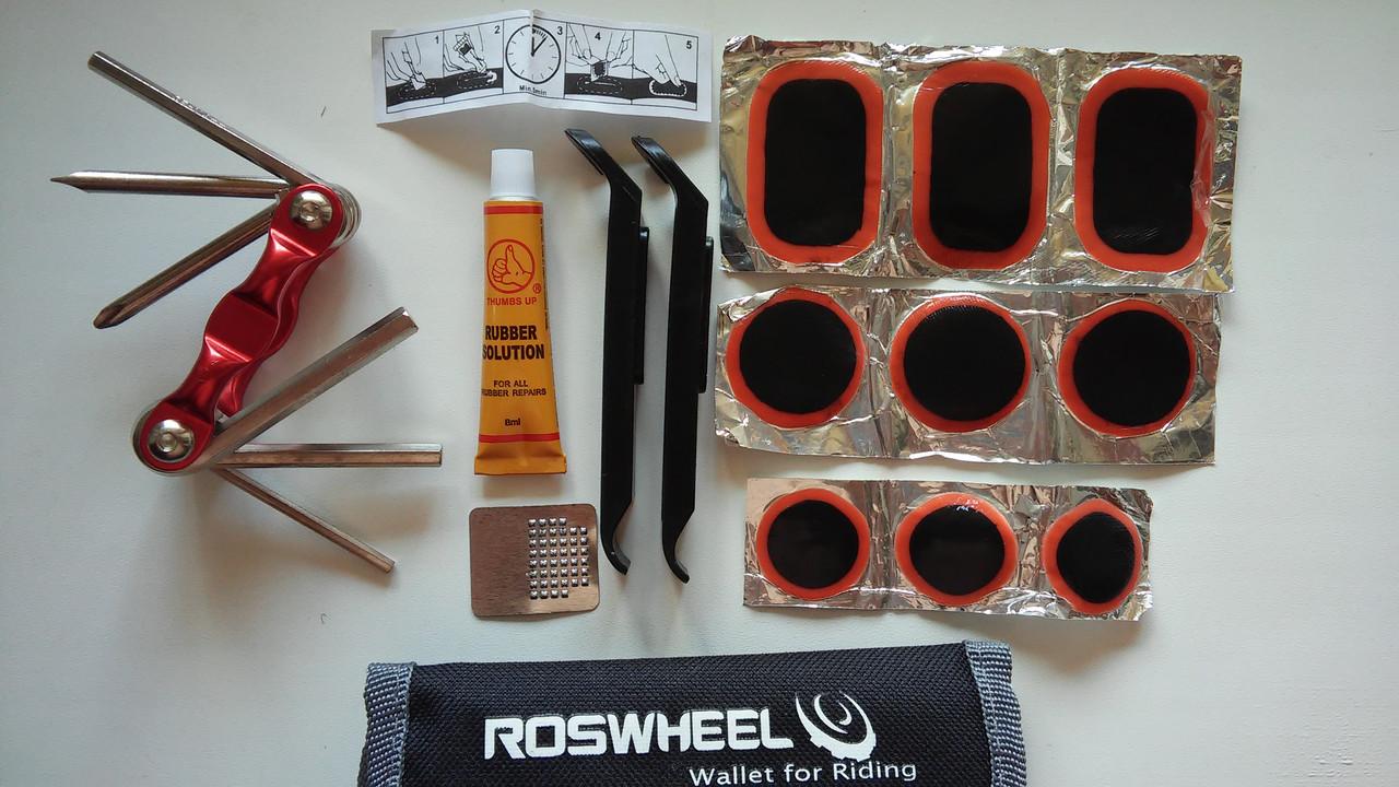 Ремкомплект, ремнабор, набор велоинструментов, вело аптечка