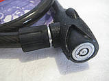 Трос протиугінний під ключ посилений (TONYON),Велозамок,мотозамок протиугінний Tonyon 18mm-1200mm, фото 3
