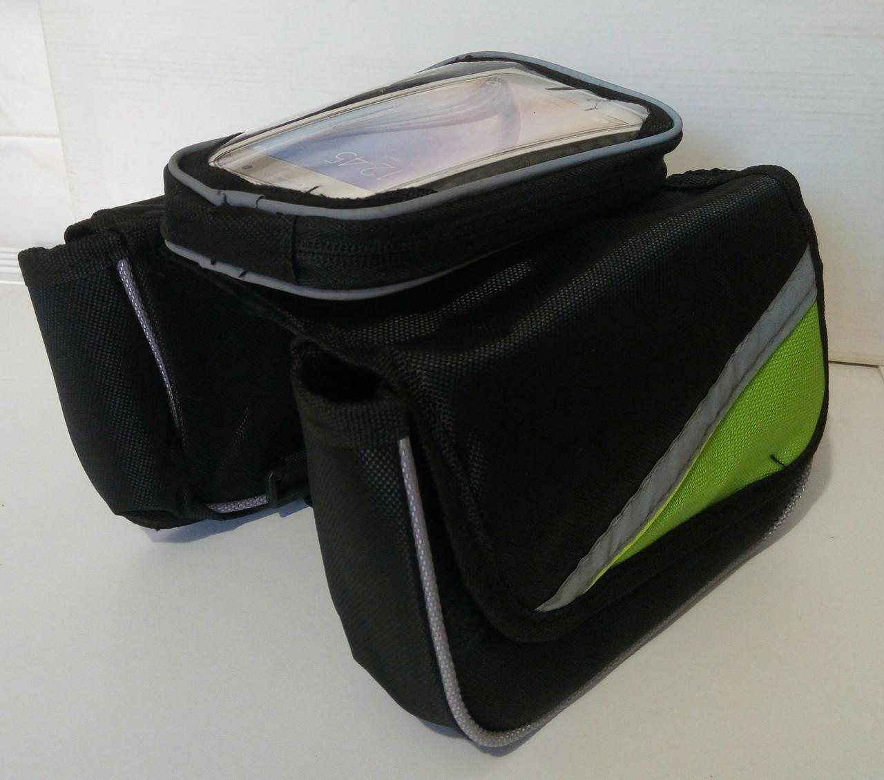 Сумка на раму,велосумка на велосипед для смартфона на телефон 7 ,нарамная сумка