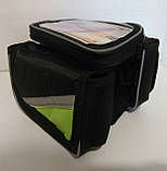 Сумка на раму,велосумка на велосипед для смартфона на телефон 7 ,нарамная сумка, фото 2