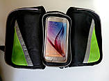 Сумка на раму,велосумка на велосипед для смартфона на телефон 7 ,нарамная сумка, фото 3