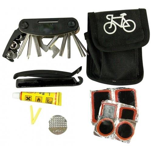 Ремкомплект Soldier для велосипеда в чехле ремнабор латки бортировки мультитул вело