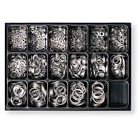 Набор алюминиевых шайб в ящике 1300 шт Berner, Германия
