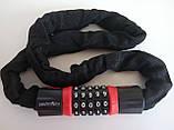 Велозамок-цепь противоугонный,трос кодовый,цепной замок в текстиле, фото 3
