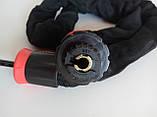 Велозамок-цепь противоугонный,трос кодовый,цепной замок в текстиле, фото 4